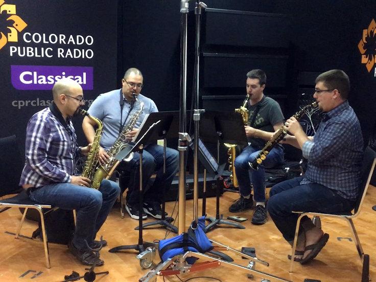 Photo: Black Diamond Saxophone Quartet in CPR Performance Studio