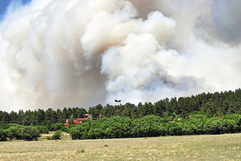Photo: Black forest fire smoke