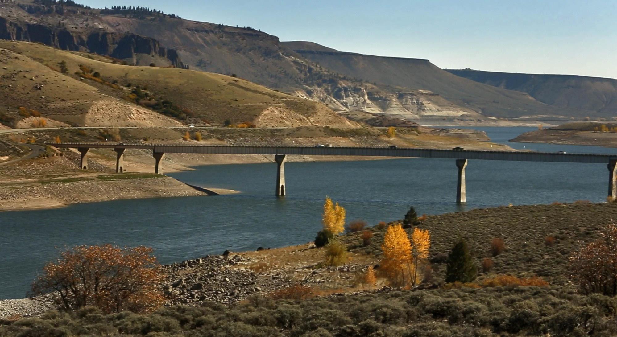 Photo: Great Divide water film Blue Mesa Reservoir