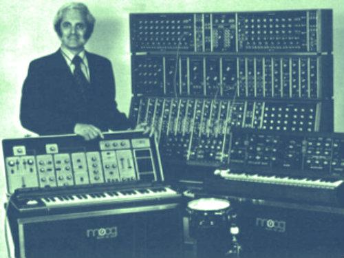 Photo: Bob Moog vintage synthesizer ad