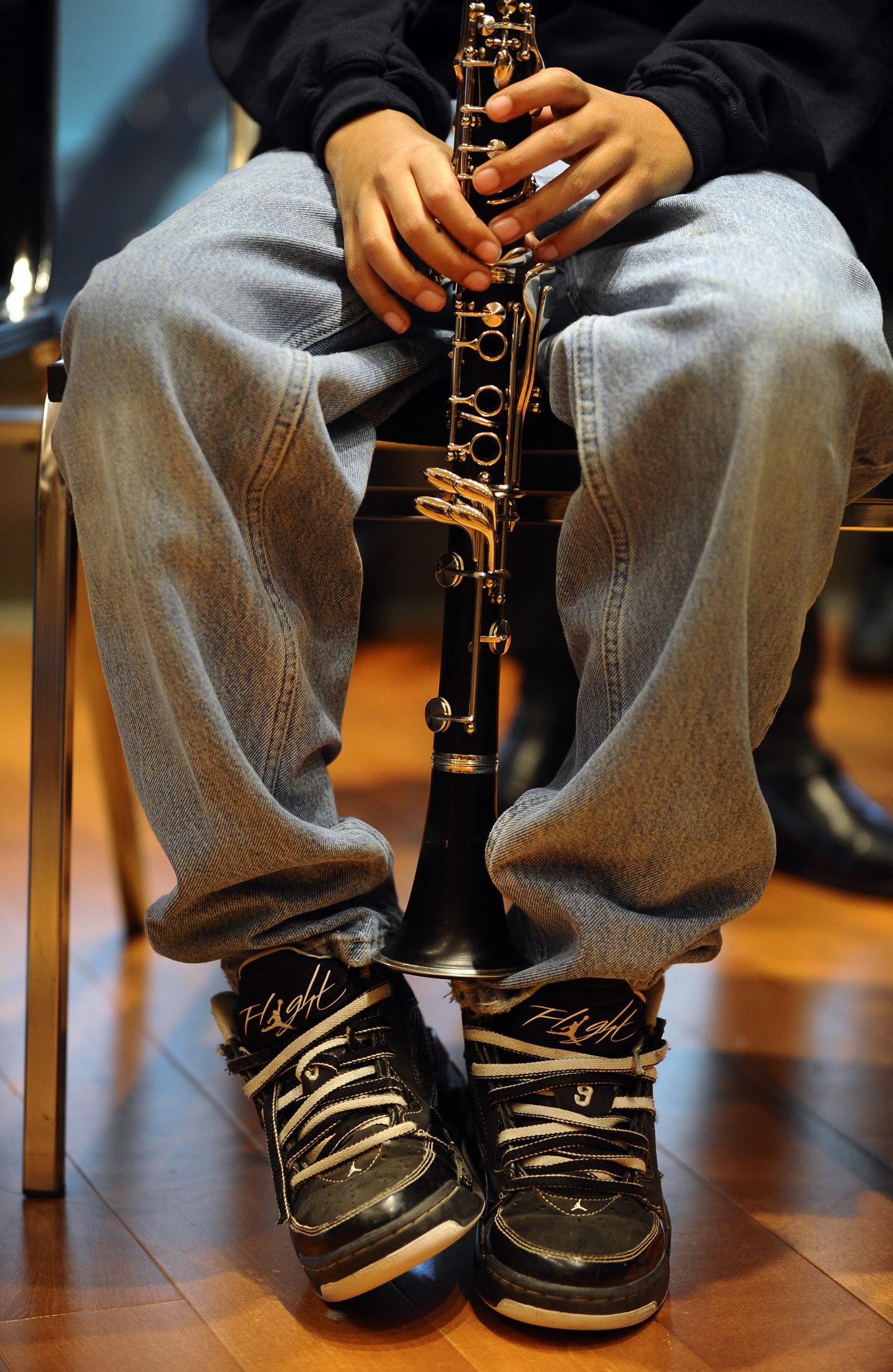 Stock Photo: Bringing Music To Life Instrument Drive - clarinet