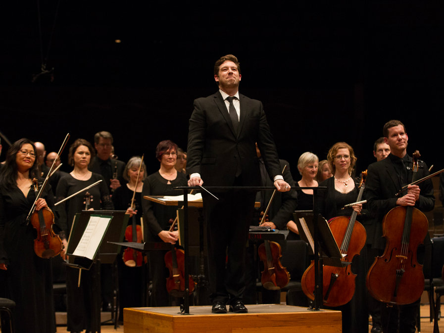 Photo: Brett Mitchell and Colorado Symphony