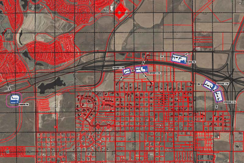Map: Proposed Extraction Well Locations In Broomfield | Oct 24, 2017