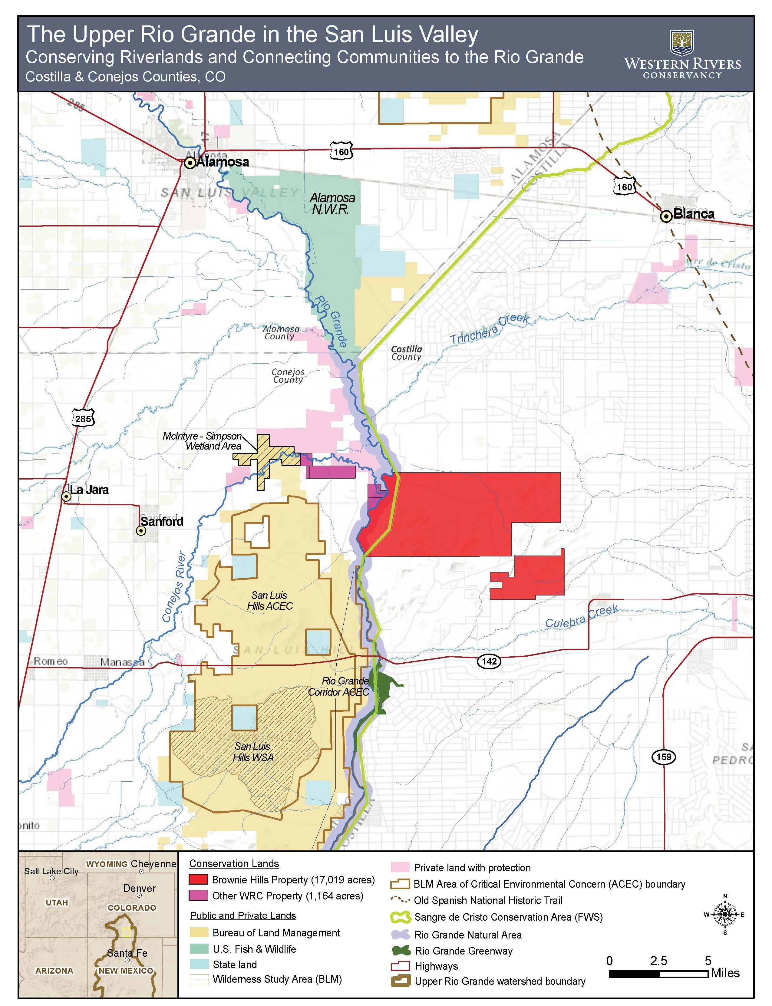 Photo: San Luis Hills 3 | Wildlife Area Map - Courtesy