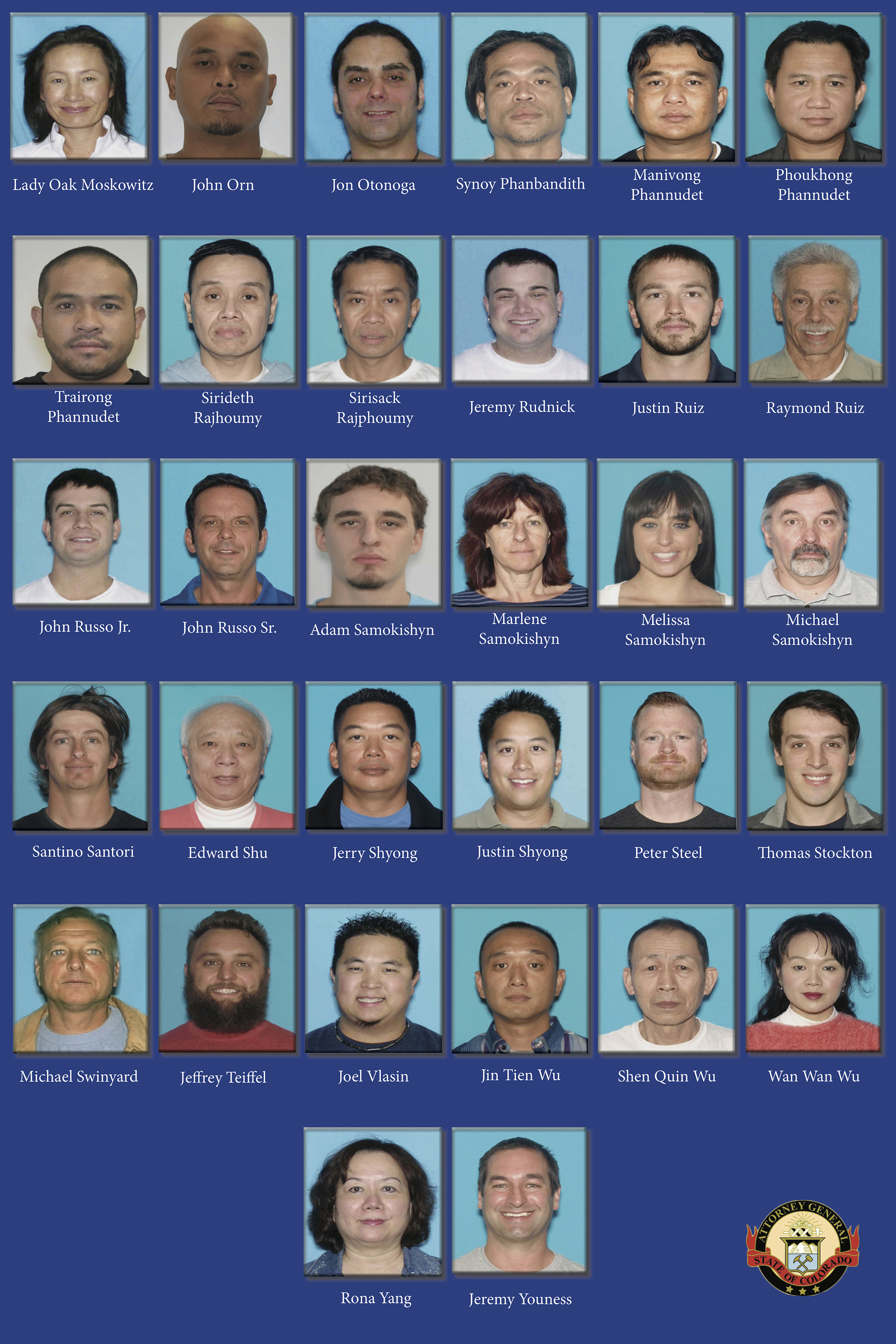 Photo: Coloradans Indicted In Largest Trafficking Ring Since Legalized Pot (Full Size)