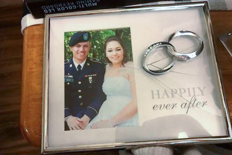 Photo: American Homefront Project Military Moves | Broken Cacho Wedding Picture - Courtesy