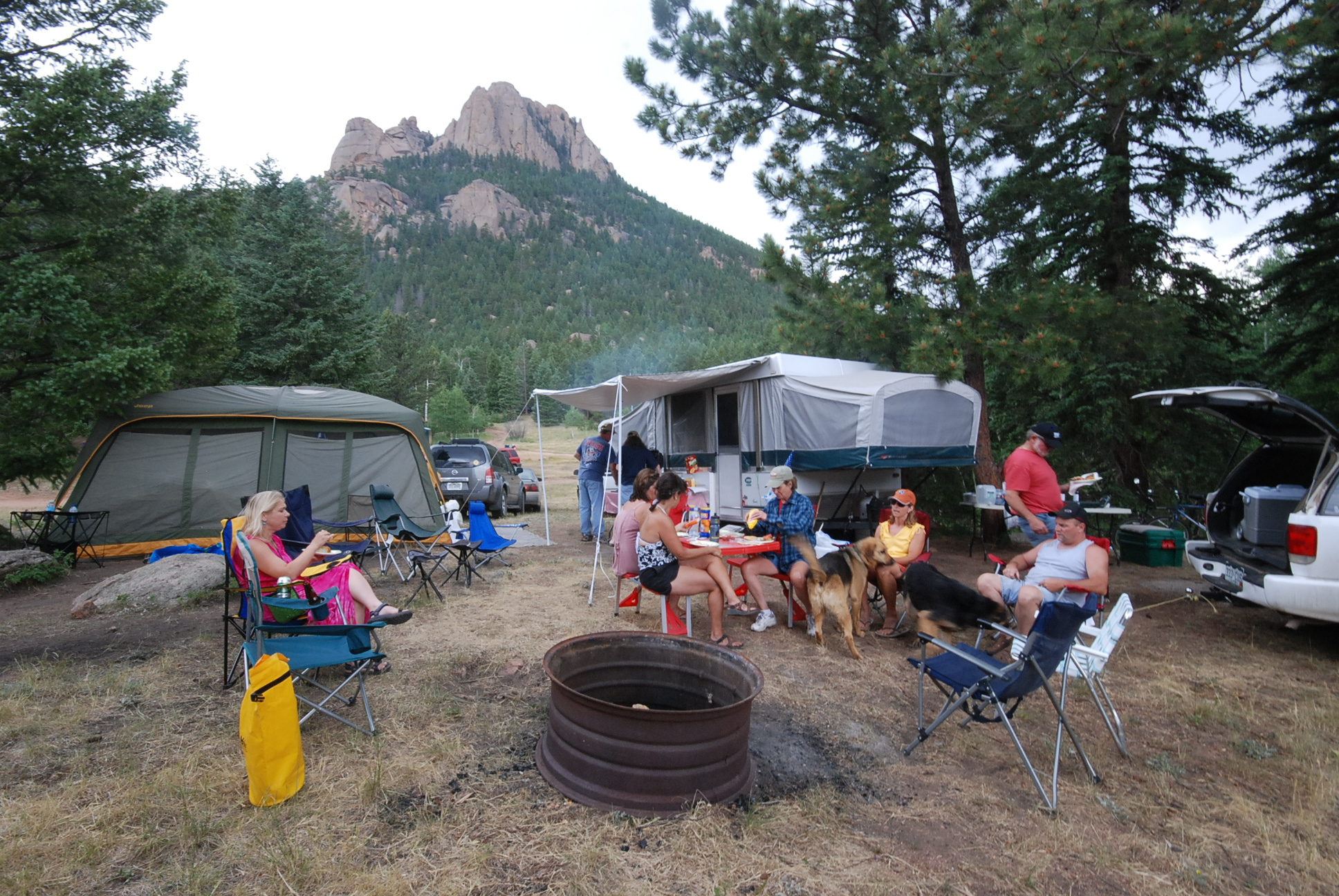 Photo: Camping near Evergreen, Colorado