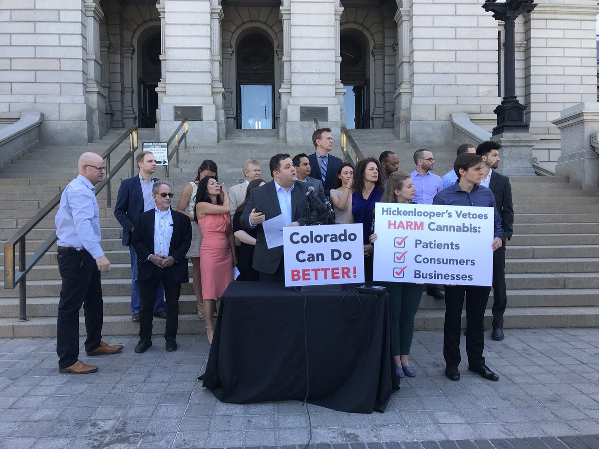Photo: Marijuana Industry presser state Capitol June 2018