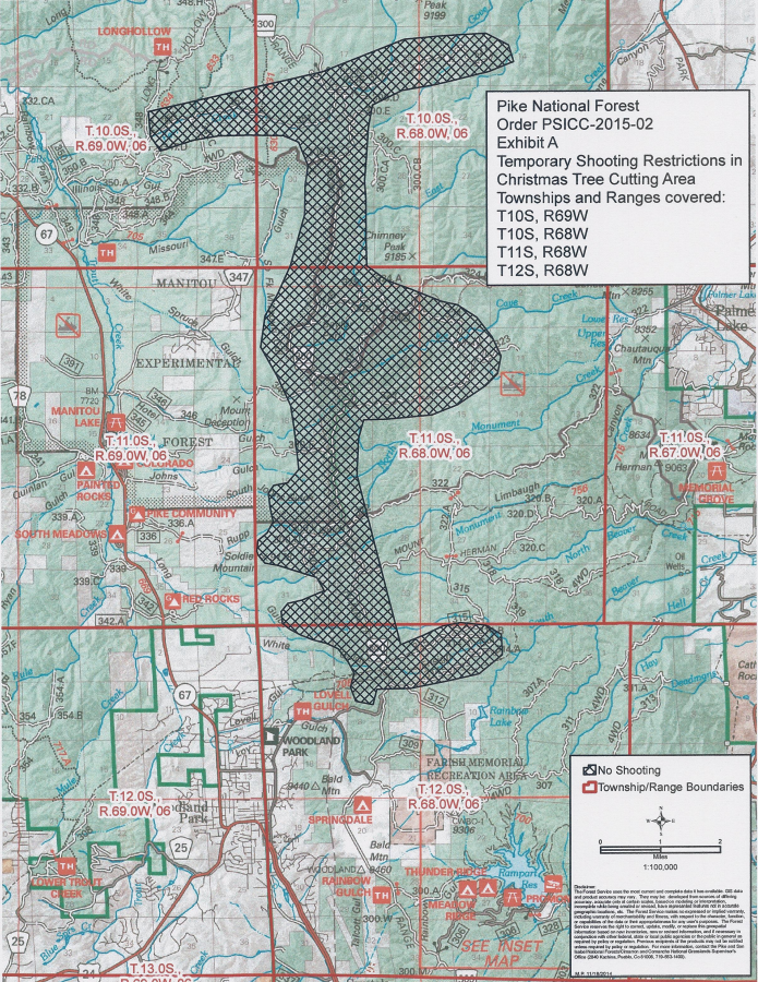 Photo: Map of Prohibited shooting area (USFS)