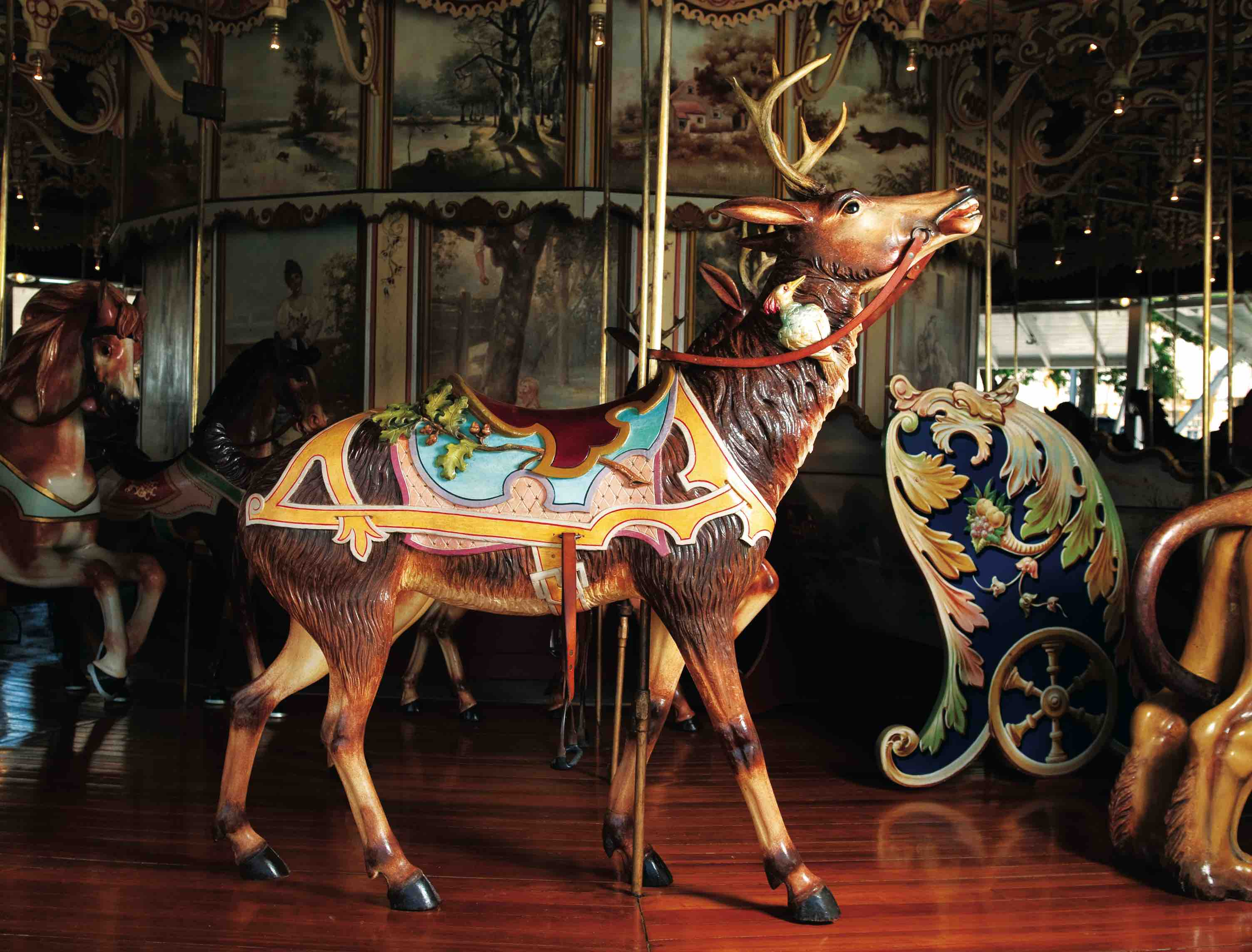 Photo:Kit Carson Carousel reindeer