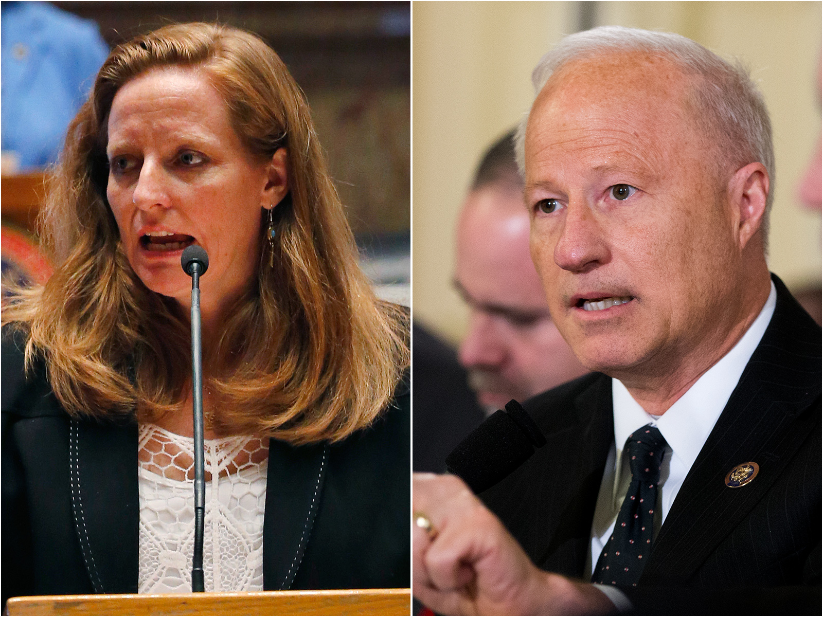 Photo: State Sen. Morgan Carroll, U.S. Rep. Mike Coffman