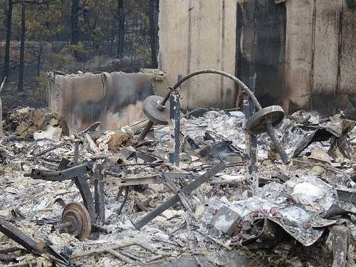 Photo: home destroyed by black forest fire