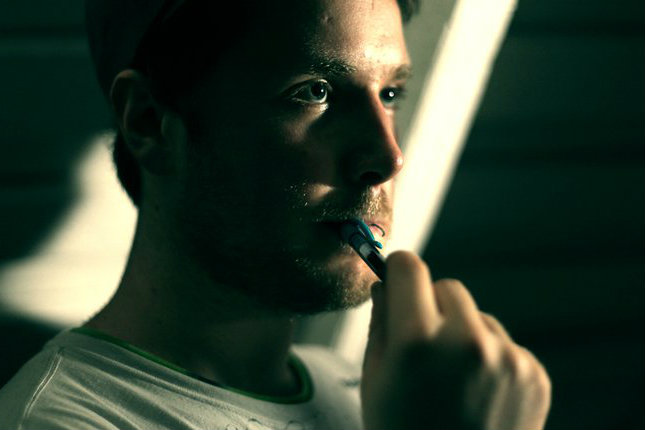 Photo: Aspiring filmmaker Charles Van Loucks directs thesis film 3-2