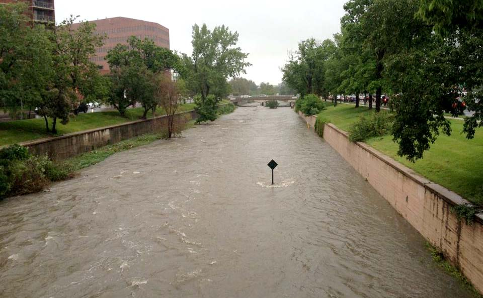 Photo: Cherry Creek flooding in Denver (Courtesy photo)