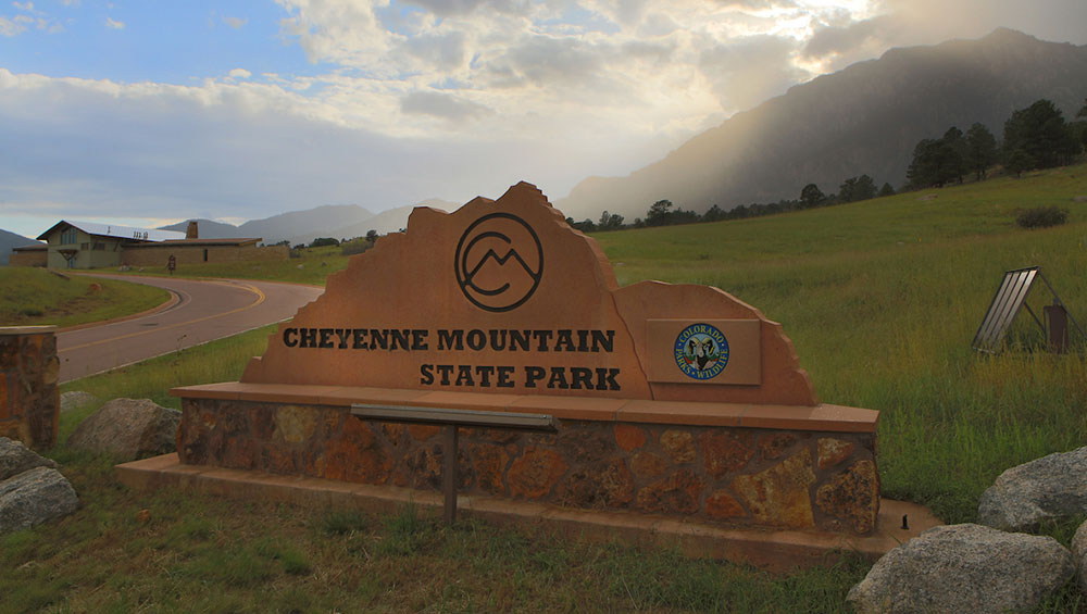 Photo: Cheyenne Mountain State Park Entrance Sign