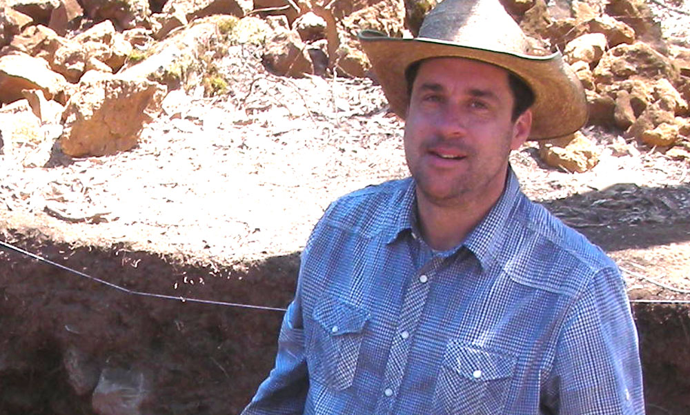 Photo: Archaeologist Chris Fisher