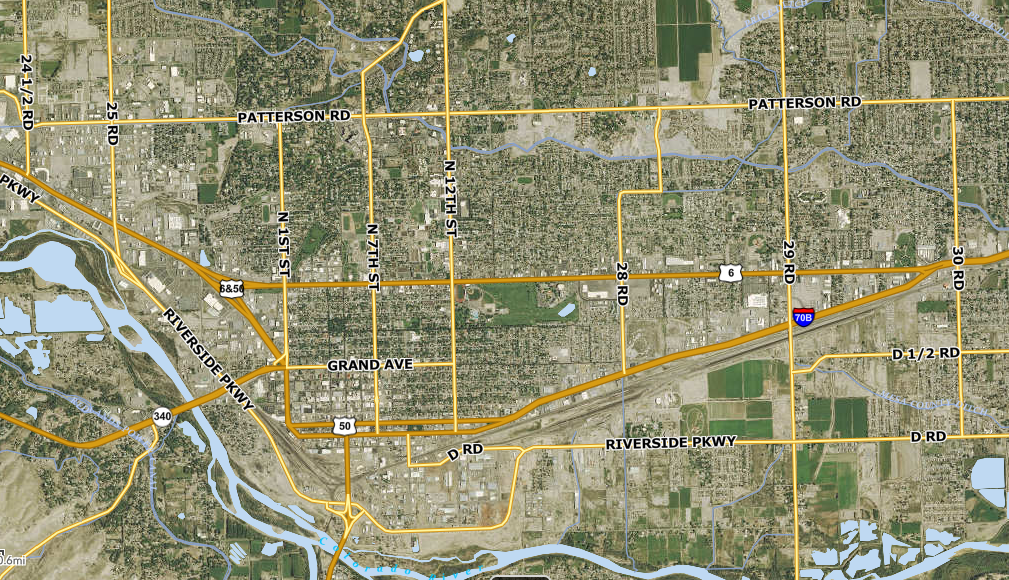 Photo: Grand Junction Streets Map