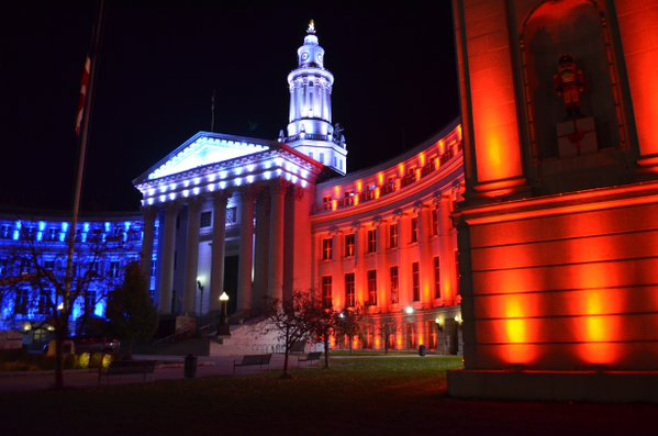 Photo: Denver City County Building French Colors