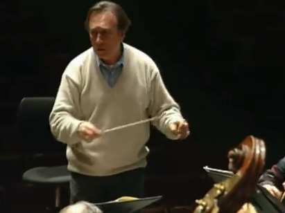 Photo: Claudio Abbado and the Berlin Philharmonic