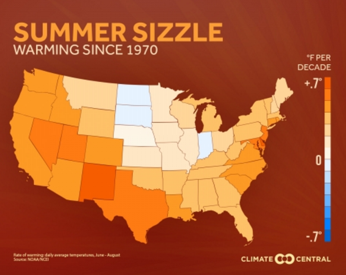 Map: Climate Central summer heat