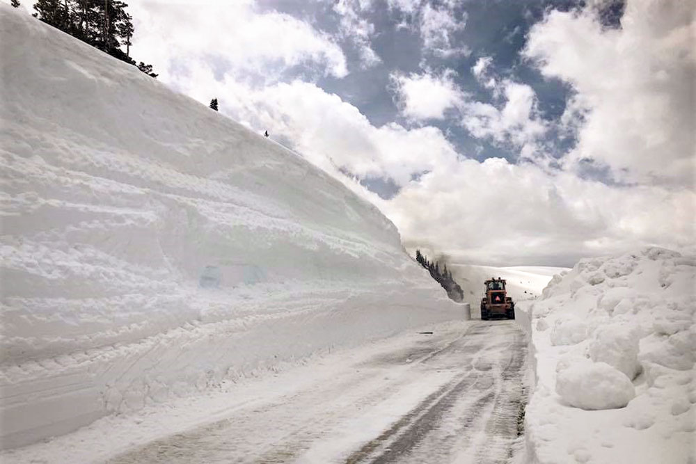 Photo: Independence Pass Snowed In - CDOT