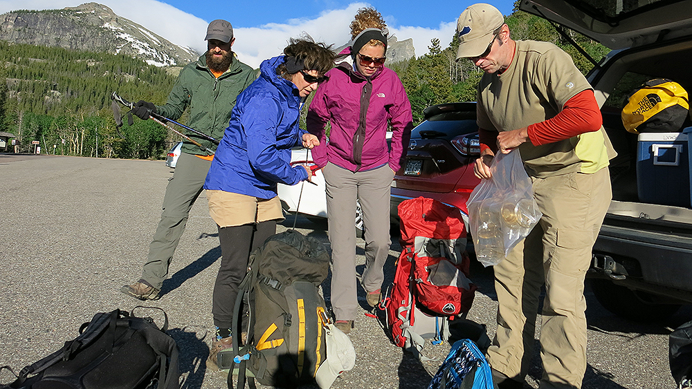 Photo: Climate Change, Rocky Mountain National Park, Jill Baron Team Sorts Gear