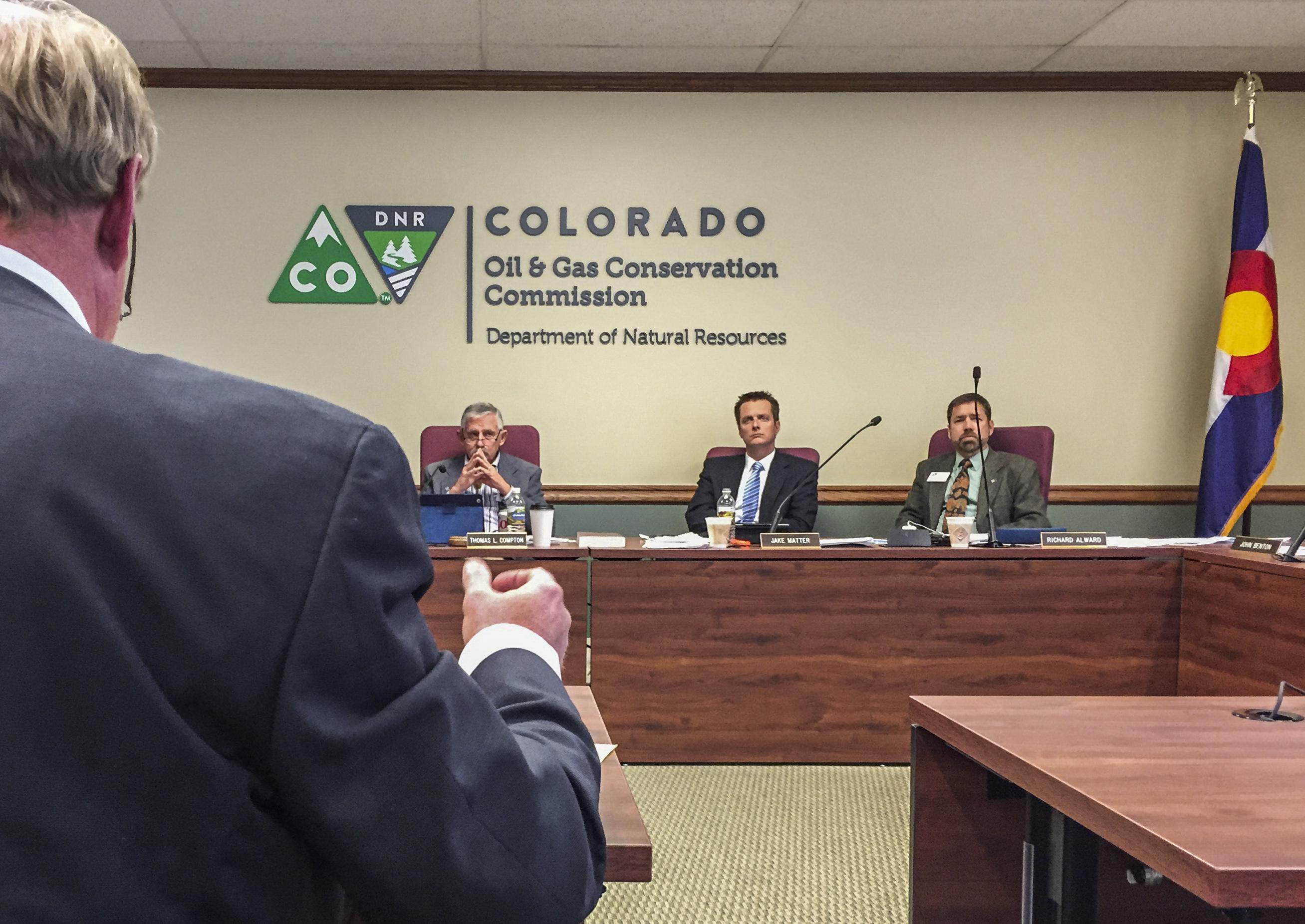 Photo: Oil company owner addresses COGCC