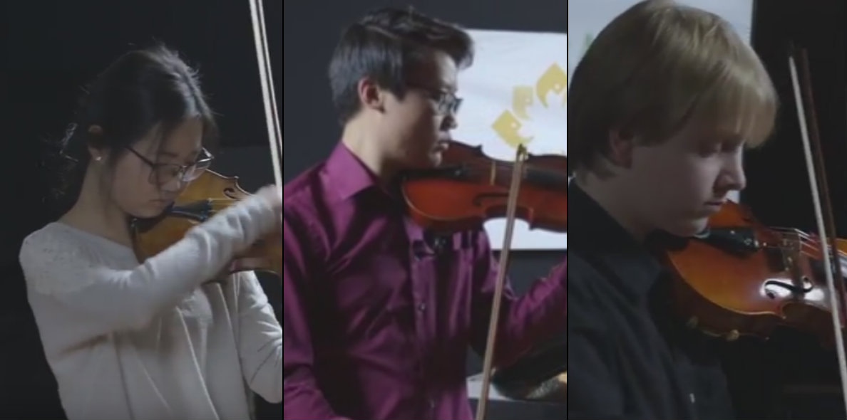 Photo: DYAO violinist collage