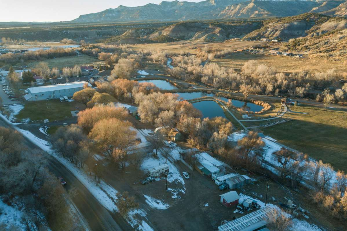 <p>An aerial picture of theCollbran Job Corps Civilian Conservation Center in Collbran, Colorado,as it appears on its website. The U.S. Department of Agriculture announced May 24, 2019, that the center would be handed over to a private contractor.</p>