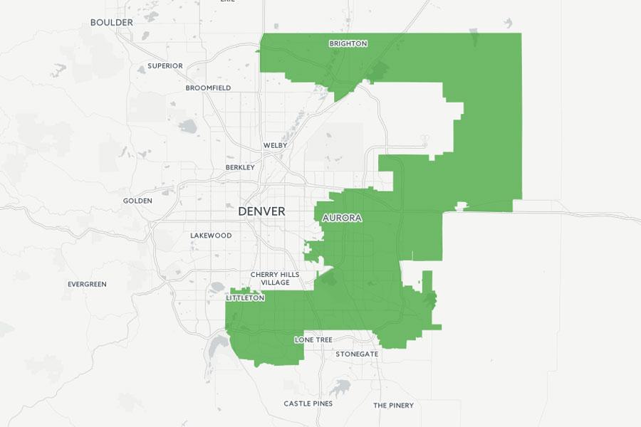 Map: Colorado Congressional District 6 2016