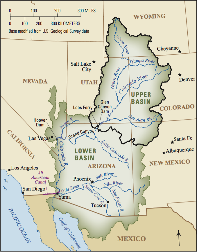 Map: Colorado River Basin - USGS