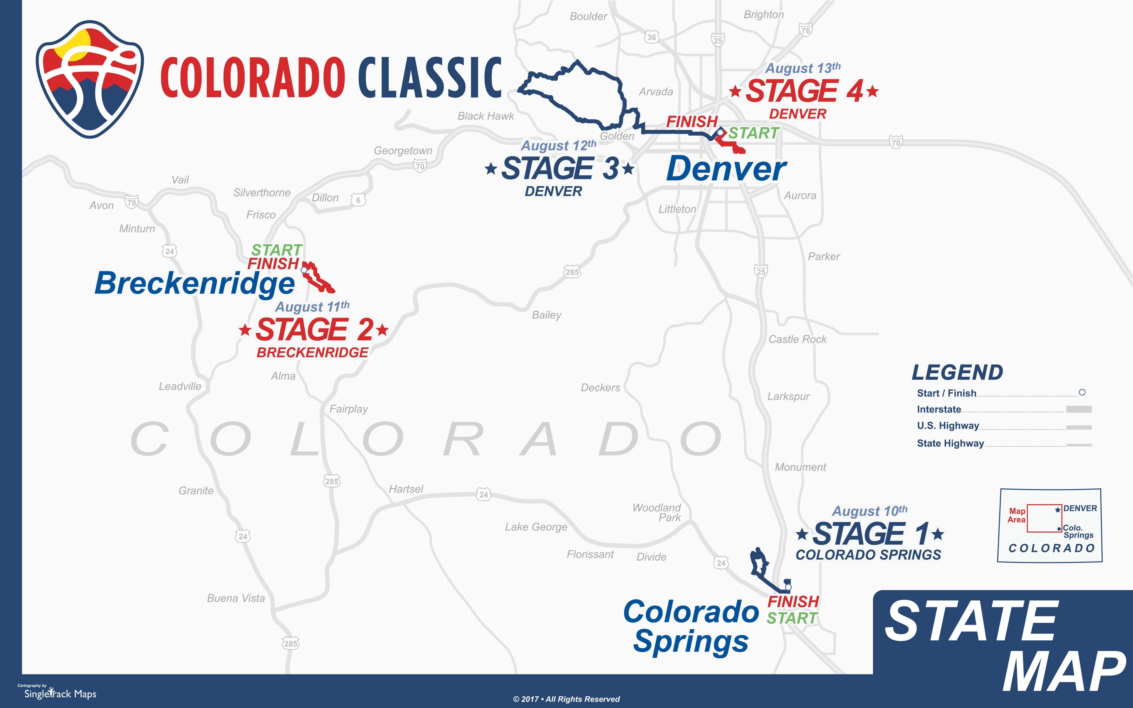 Map: Colorado Classic 2017