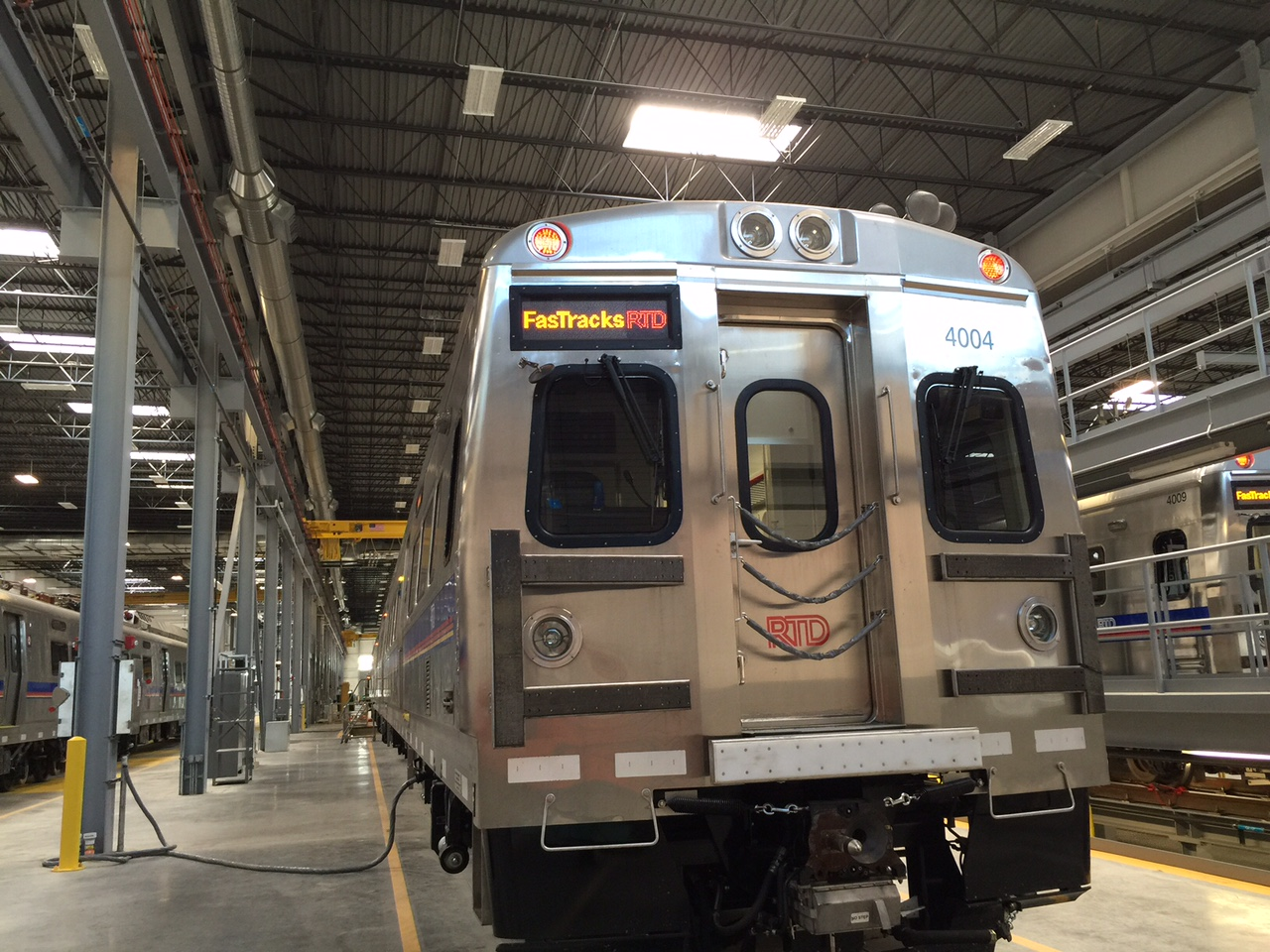 Commuter Rail Car RTD sitting in storage (STAFF)