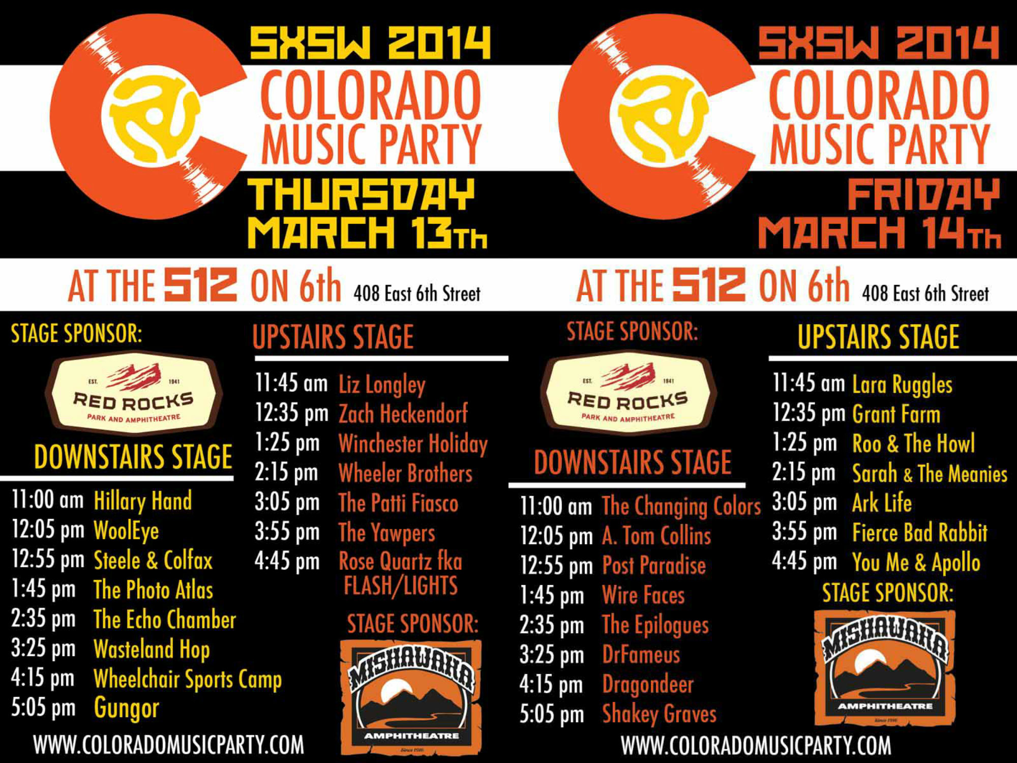 photo: CO Music party lineups