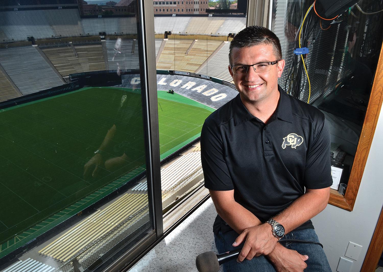 Photo: Broncos Announcer Conor McGahey