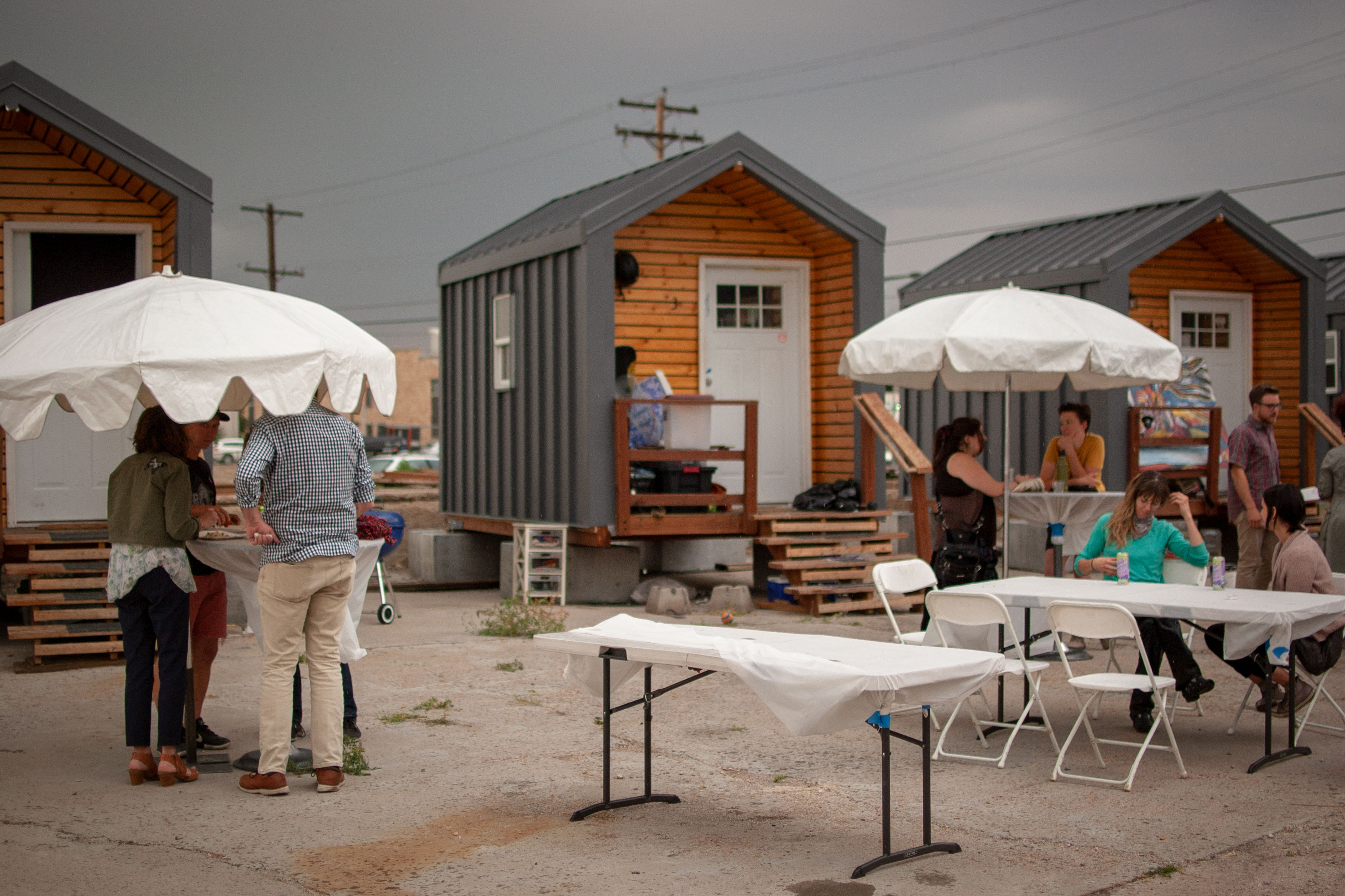 Photo: Tiny Home Village Year One 2 | Potluck Celebration - AAwad
