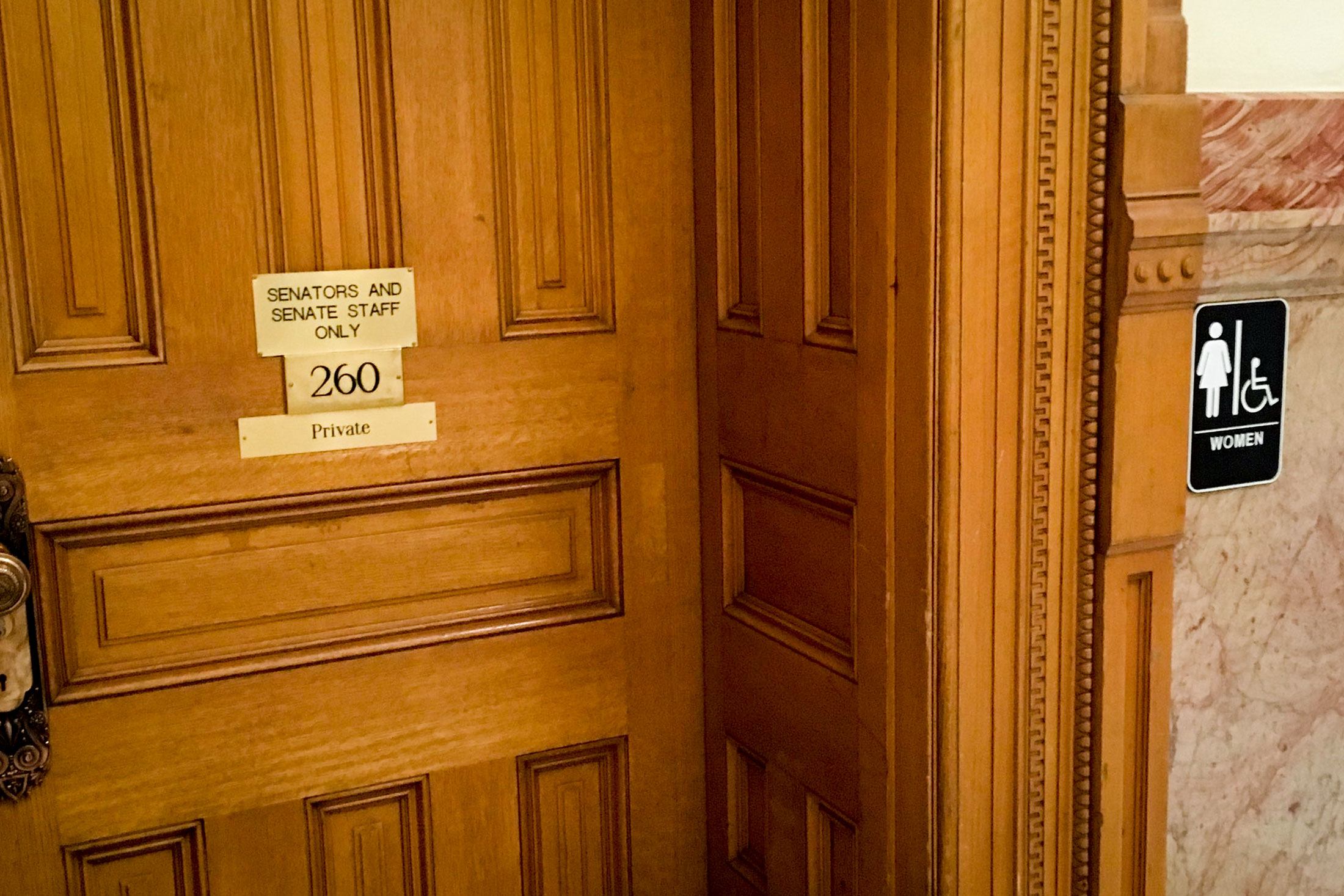Photo: Senate Bathroom Door | New Women's Sign - BBirkeland