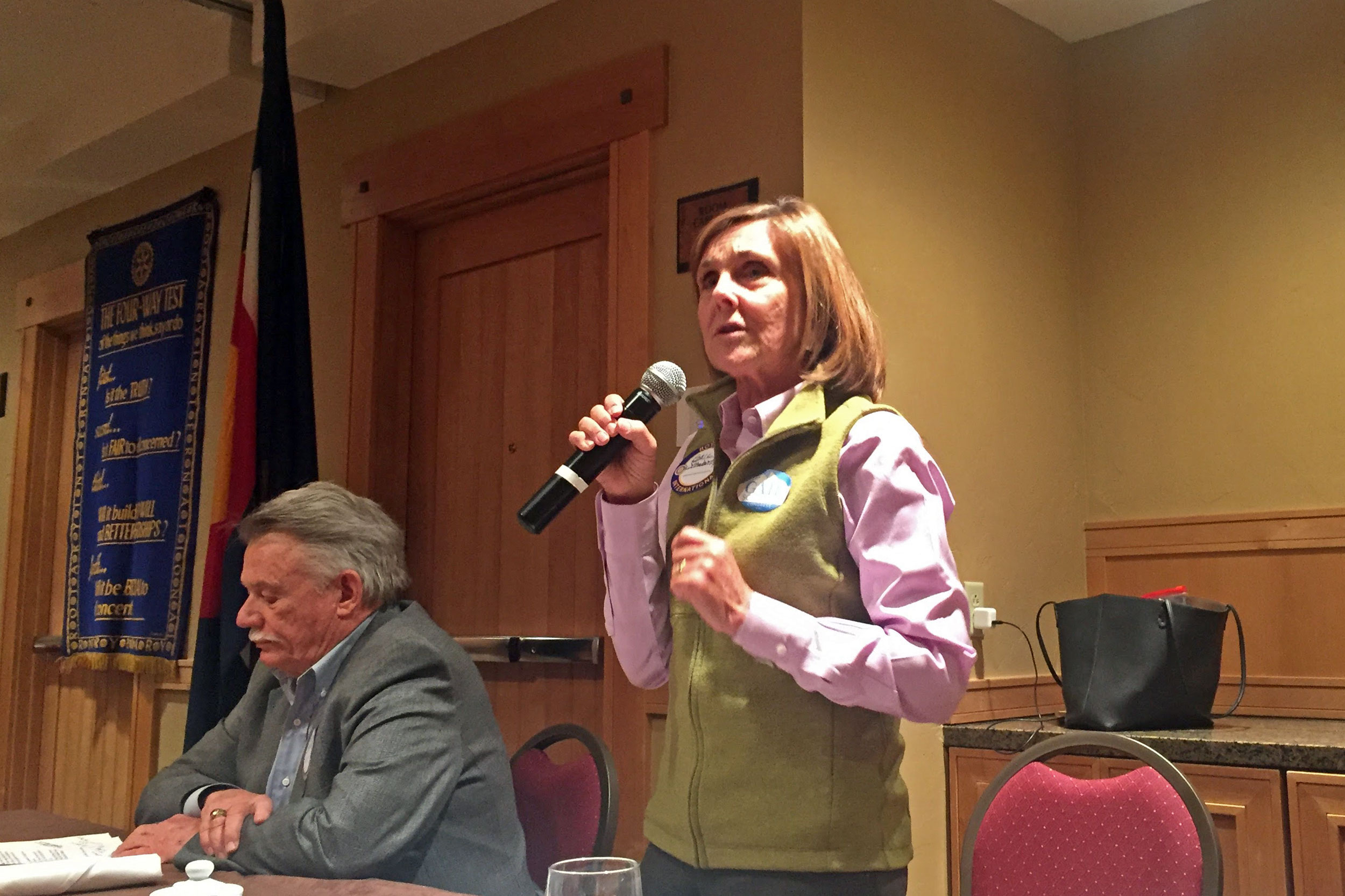 Photo: Gail Schwartz Campaign Stop, Steamboat Springs Rotary