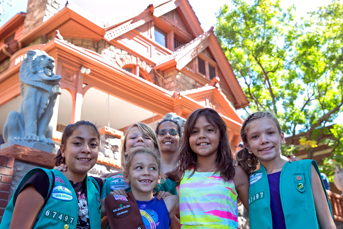 Photo: Girls Scouts At Molly Brown House