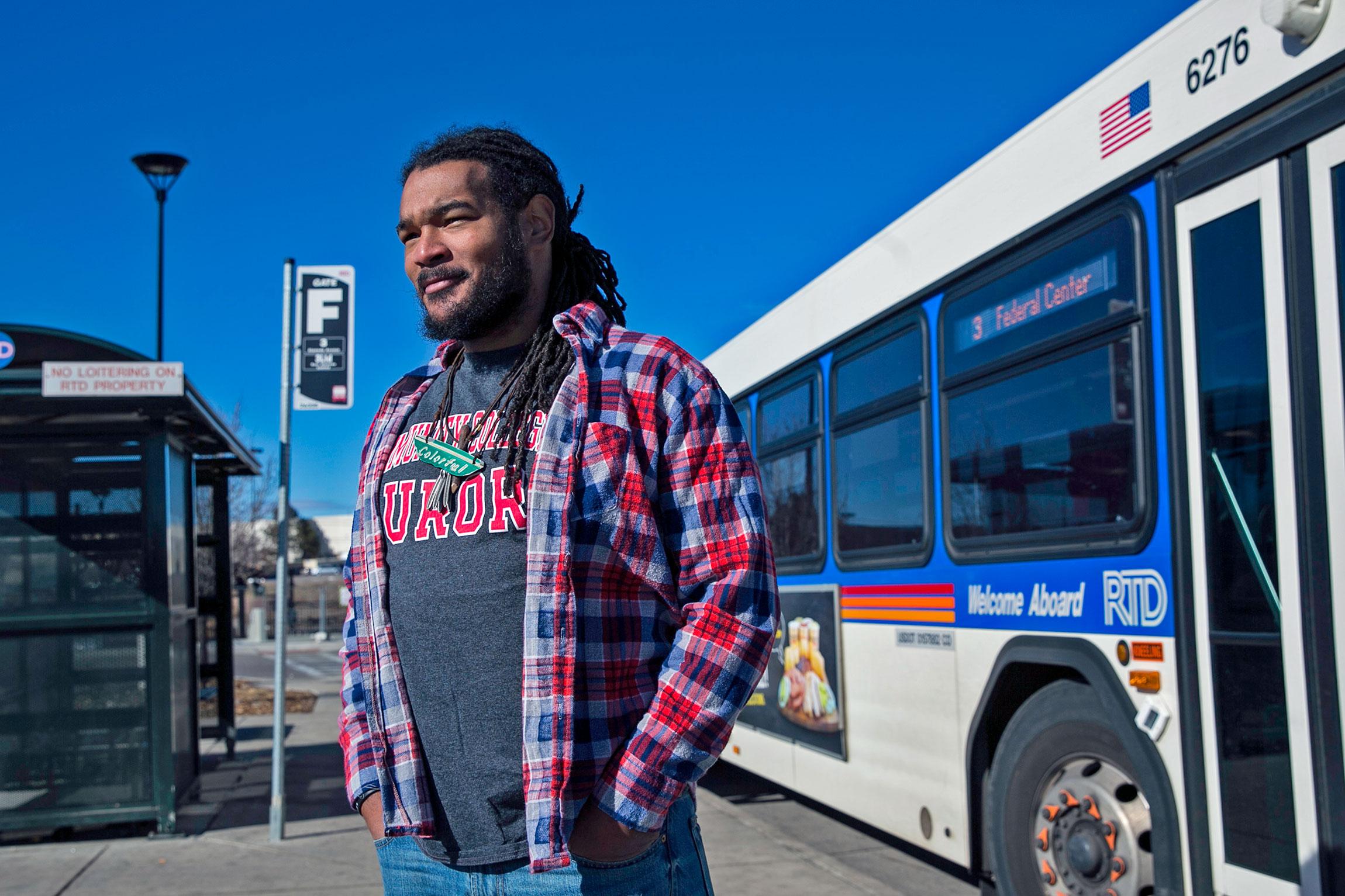 Photo: Javon Mays Poet Laureate Exit 1 | Javon and 15L Bus - CJones