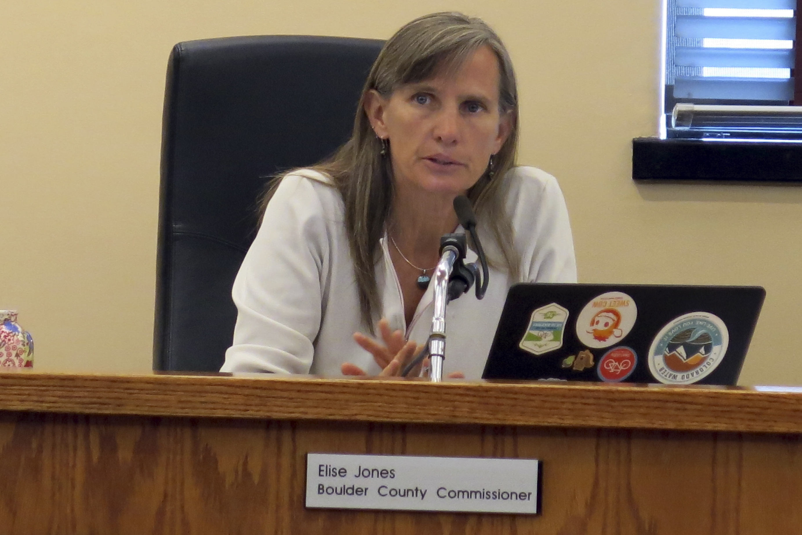 Photo: Boulder Commish Elise Jones | Oil & Gas Meeting - GHood