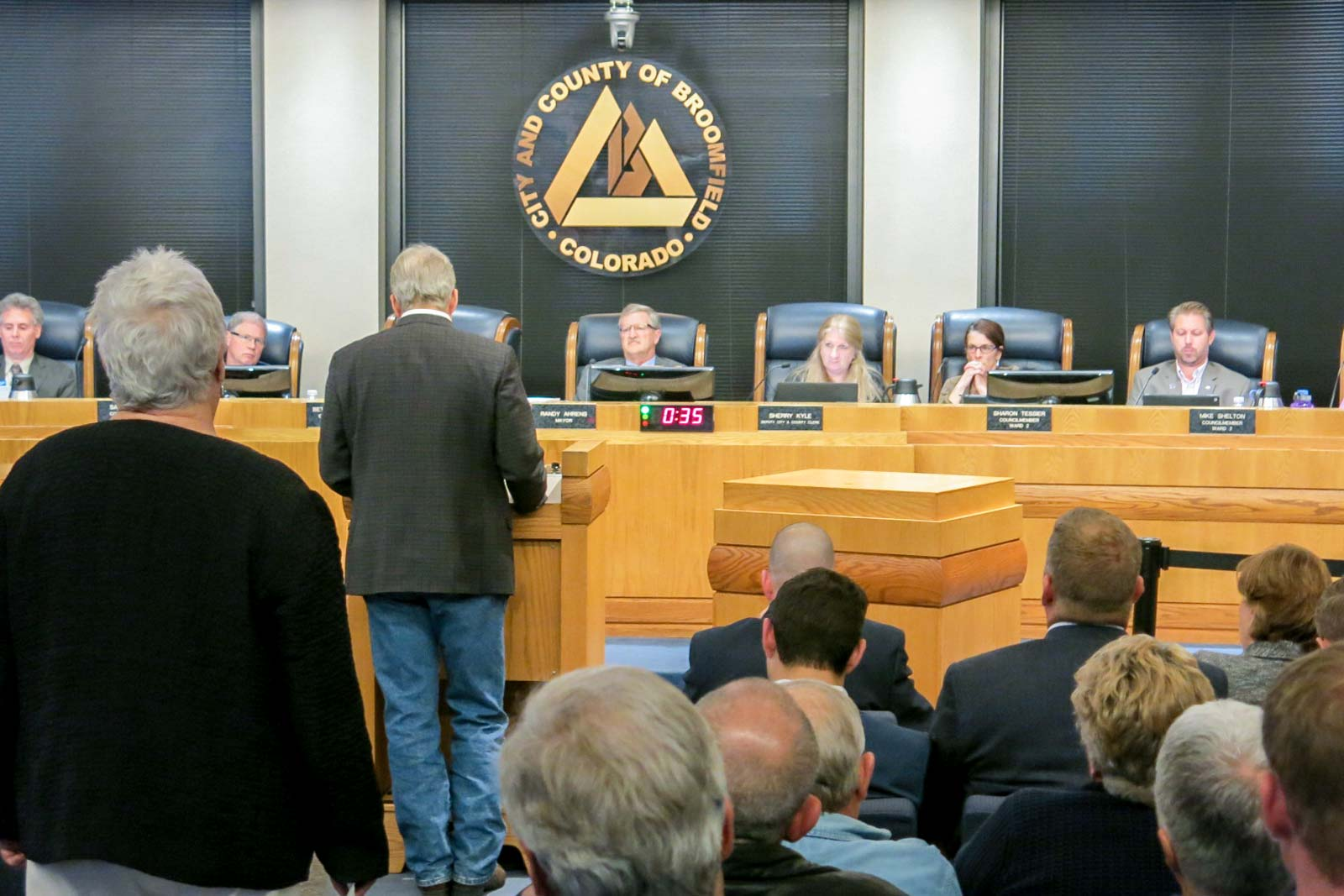 Photo: Broomfield Oil and Gas Public Comment | Oct 24, 2017 Council Meeting - GHood