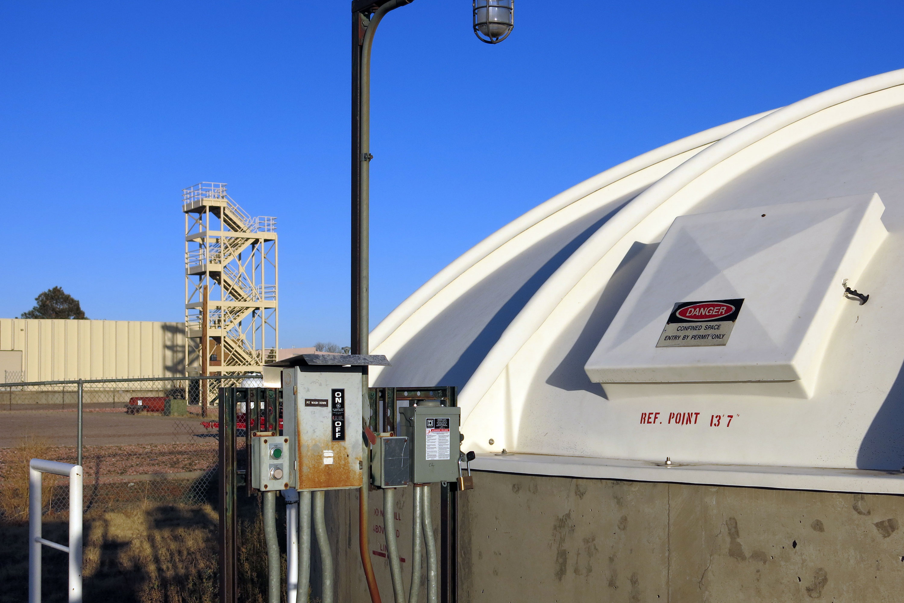 Photo: Peterson AFB Fire Fighting Training Site Storage Tank
