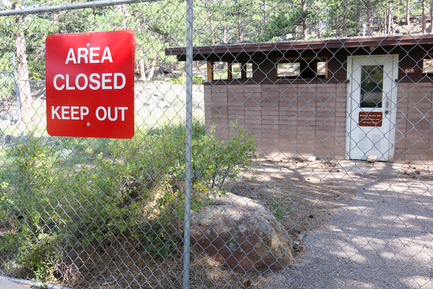 Photo: Privatize NPS Campgrounds 2 | Closed Bathroom - GHood