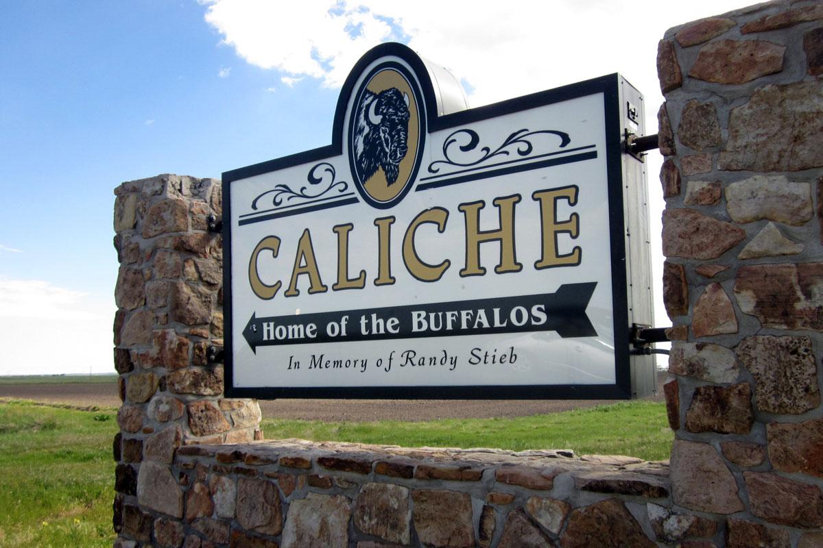 Photo: Caliche School Sign