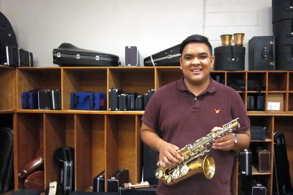 Photo: Caliche Music Teacher Ryan Rosete