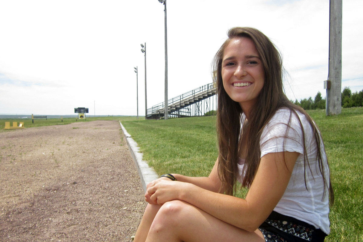 Photo: Caliche Track Student Kayla Zink