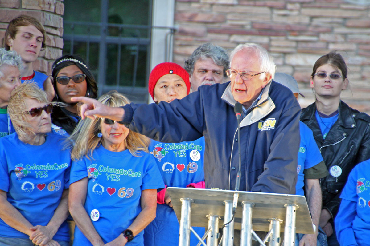 Photo: Bernie Sanders, ColoradoCare Rally CU Boulder