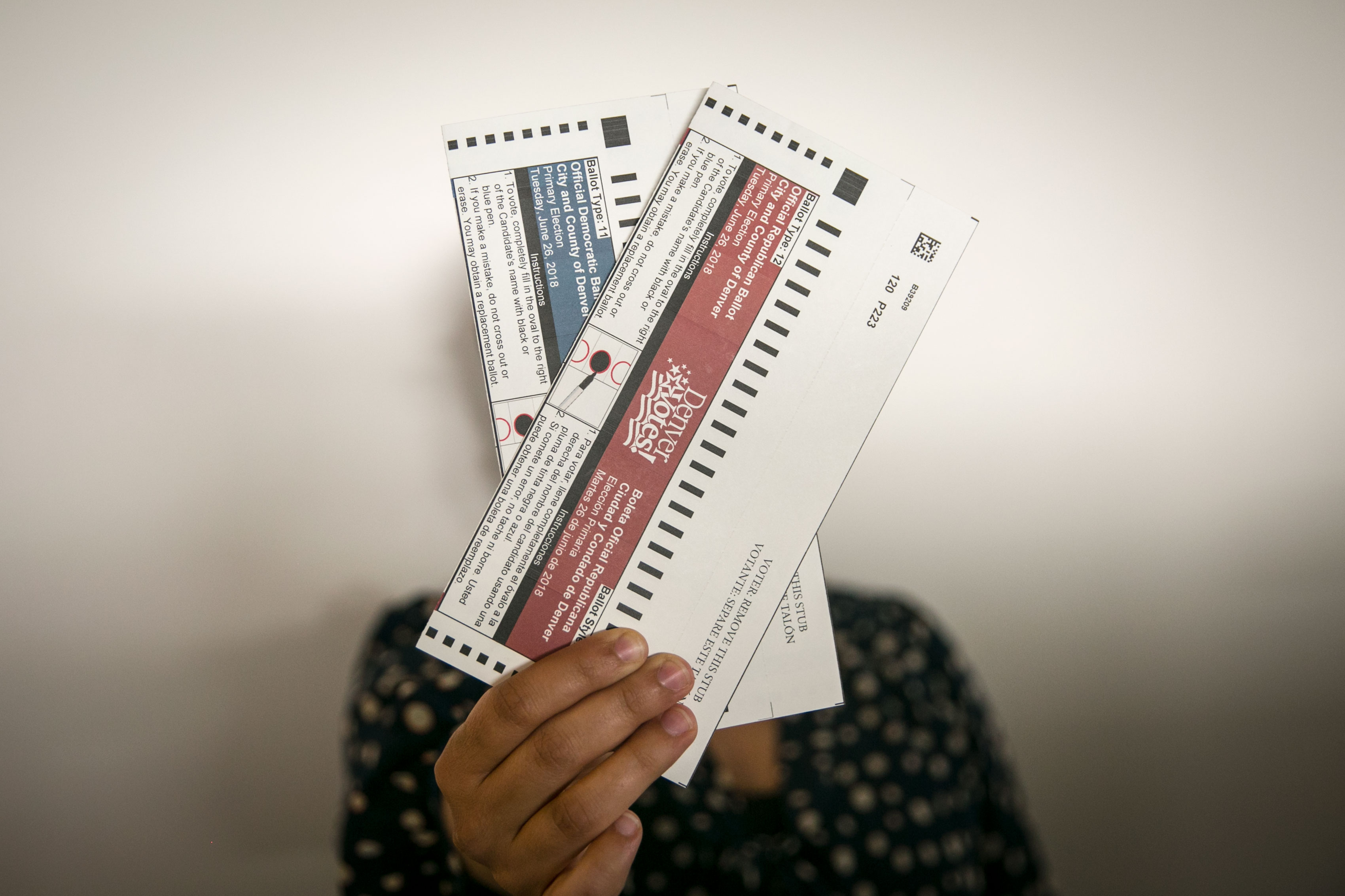 Photo: Colorado Primary Ballots | Hand Model - JHill