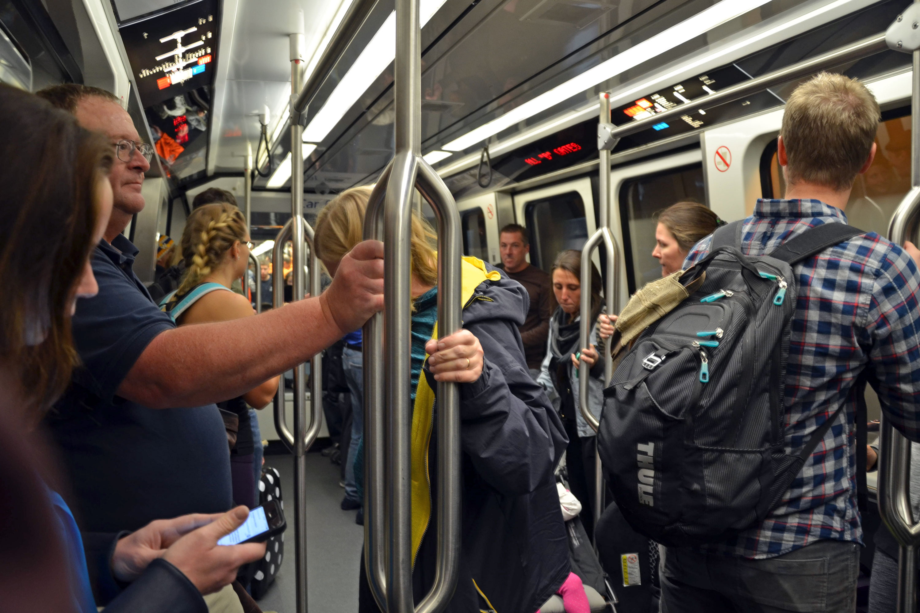 Photo: DIA Thanksgiving Travel 2 | Packed Car On Concourse Train - MSakas